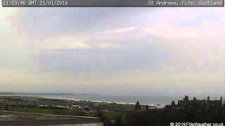21 January 2016 - St Andrews WeatherCam Timelapse