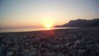 Dawn at Xiliadou Beach Evia Timelapse