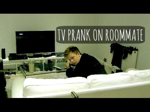 TV PRANK ON ROOMMATE