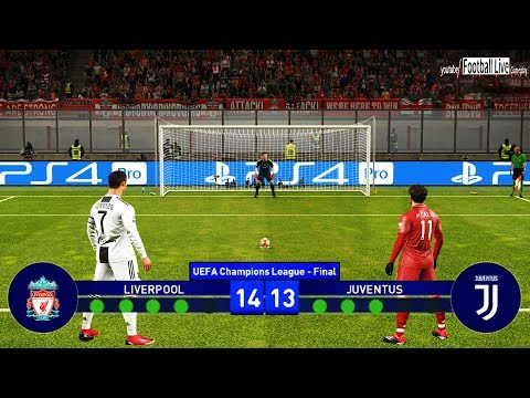 PES 2019 | Liverpool Vs Juventus | Final UEFA Champions League (UCL) | Penalty Shootout