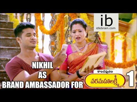 Nikhil as Brand Ambassador for Kancheepuram Promos