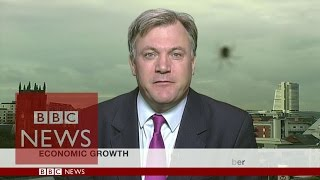 Spider photobombs Ed Balls interview - BBC News