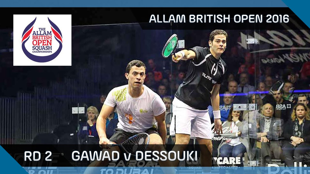 Squash: Gawad v Dessouki – Allam British Open 2016 – Men's Rd 2 Highlights