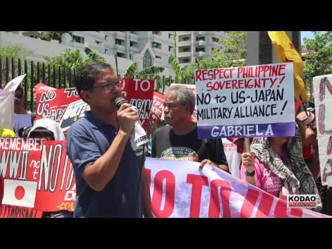BAYAN: Oppose the US-Japan-Philippine naval exercises By: Kodao Productions