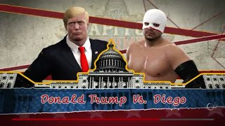A requested 1 VS 1 No Holds Barred Match with Diego VS Custom Character Donald Trump