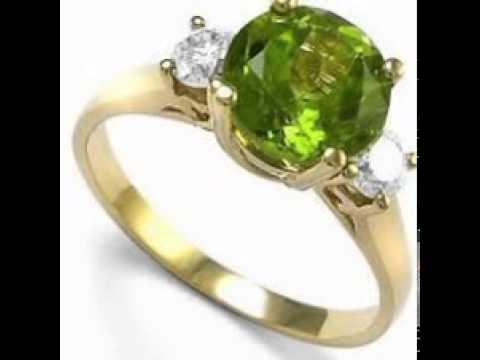 Peridot Rings Gold