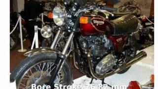 8. Triumph Bonneville 750 T140E America -  Specification Details