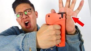Video JANGAN TIRU ADEGAN INI!!! STAPLE GUN ROULETTE!!! MP3, 3GP, MP4, WEBM, AVI, FLV Juli 2019