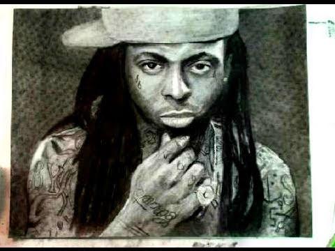 How to Draw Rapper Lil Wayne Step by Step Portrait