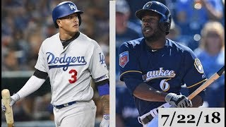 Los Angeles Dodgers vs Milwaukee Brewers Highlights || July 22, 2018