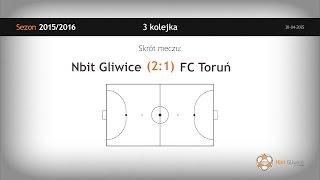 Skrót meczu Nbit Gliwice   FC Toruń (3 kolejka)
