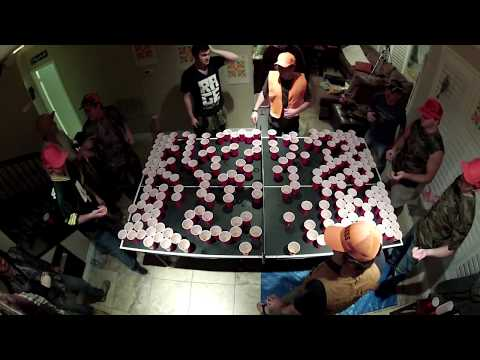 450 Beer Pong – Full table red solo cups