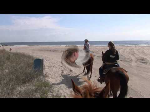 Debbie Manser Horseback Riding on the Beach in Florida
