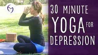 Video Yoga for Depression with Fightmaster Yoga MP3, 3GP, MP4, WEBM, AVI, FLV Maret 2018