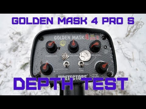 Golden Mask 4 PRO S by MDetectors - review and depth test with small coins!