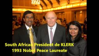 INTERACTING WITH GLOBAL LEADERS AND NOBEL PEACE LAUREATES