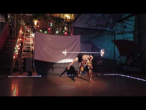 Dragon staff performance at the Open Cirque October 2016