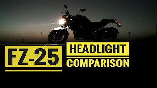 YAMAHA FZ 25 HEADLIGHT COMPARISON WITH TVS APACHE RTR 200