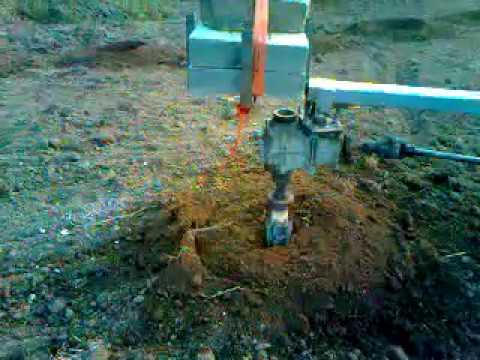 busilica za zemlju - kopanje rupa za sadnju voća fi 700mm i dubina 600mm.