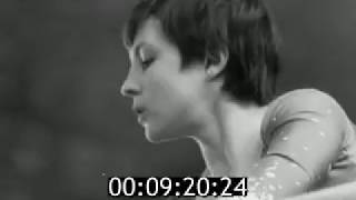From Soviet newsreel, a brief report on the 1980 RSFSR gymnastics championships. In Russian.