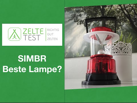 Campinglampen Test | Campinglaterne SIMBR REVIEW | zeltetest.net