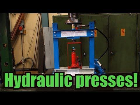 終於等來液壓機VS液壓機實驗了,最後將對手慢慢碾壓的畫面簡直太紓壓了!