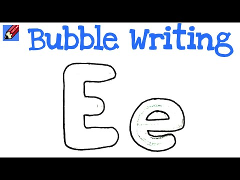 how to draw a lowercase e in bubble letters