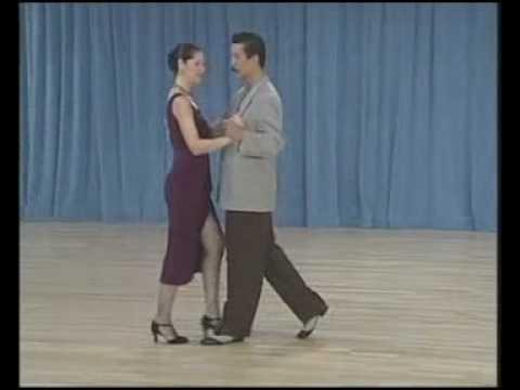 основные фигуры аргентинского танго - 08 Ochos para atras(5 часть)