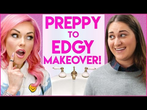PREPPY TO EDGY SURPRISE MAKEOVER! Stalled w/ Kandee Johnson (видео)
