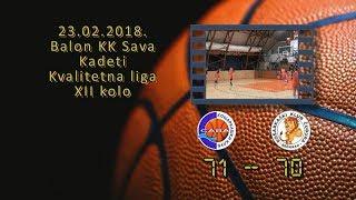 kk sava kk čubura 71 70 (kadeti, 23 2 2018 ) košarkaški klub sava
