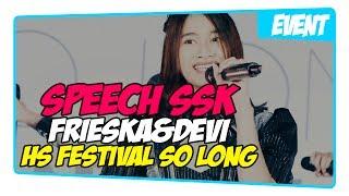 Fancam Speech SSK Dari Frieska&Devi @ JKT48 HS Festival So Long 2017