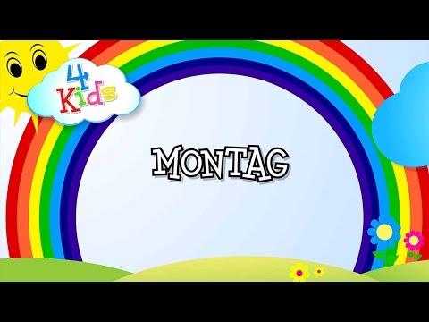 Wochentage lernen für Kinder - Tage von Montag bis Sonntag (deutsch) Lernvideo (видео)
