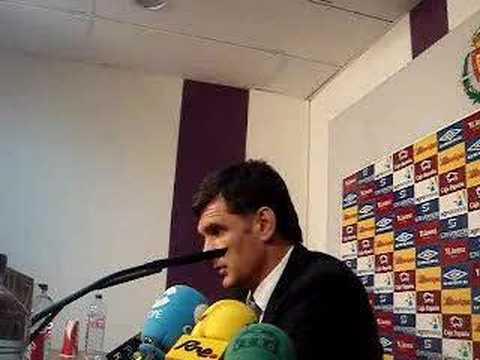 Presentación de José Luis Mendilibar como entrenador del Real Valladolid