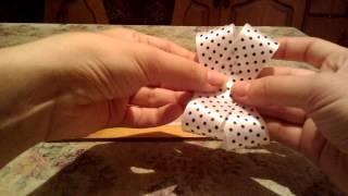 Урок по handmade, как быстро сделать красивый бантик для резинки на волосы