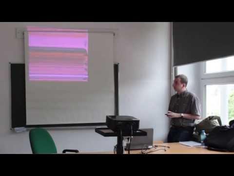Wygaszacz ekranu zaskoczył wykładowcę.