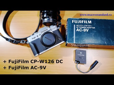 Prezentare adaptor acumulator FujiFilm CP-W126 DC si alimentator FujiFilm AC-9V