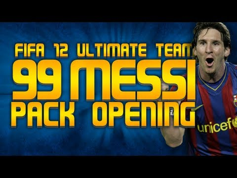 FIFA 12 Gold Pack - So basically, we're going to try and get a 99 rated Messi in a pack. I have saved up about 500k coins, it's happy hour and there is a 100k pack with 24 rare cards, so there is some hope of...