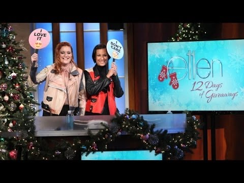 IconaPop - Their hit is tearing up the charts, so what better game for Swedish duo Icona Pop to play with Ellen than