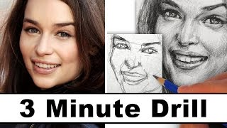3 minute drill drawing of Emilia Clarke. Drawing with 4B graphite pencil. Oh, sorry, I kept calling her Emily in the video=). ▻SUBSCRIBE ...