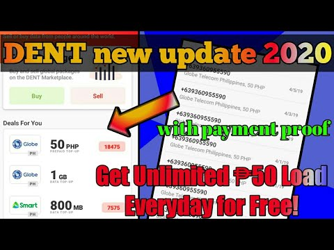 DENT NEW UPDATE 2020 GET UNLIMITED ₱50 LOAD DAILY!