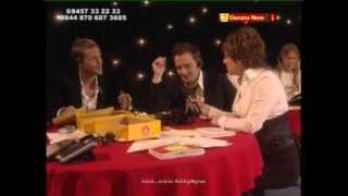 Nicky Byrne and Shane Filan on phones Chilfdren in Need
