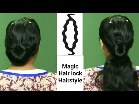 Hairstyles for short hair - 2 Simple Hairstyles using with Magic Clip  Bun maker   Hairstyles for girls  hairstyles