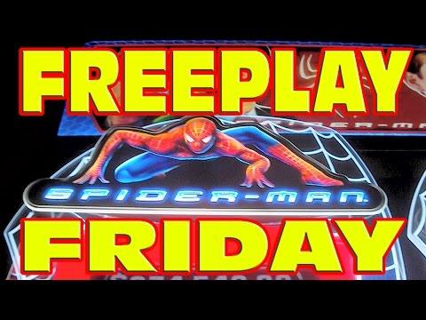FREEPLAY FRIDAY: Spider Man Slot Machine LIVE PLAY Win