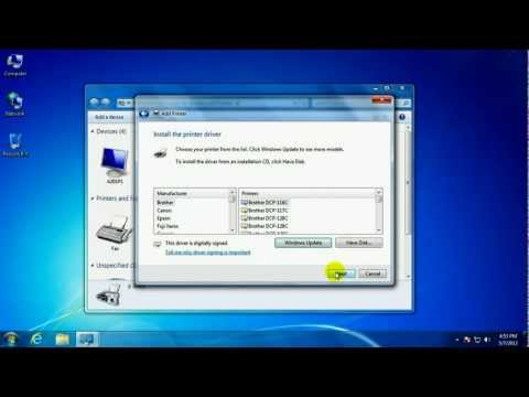 How to add a network printer using Windows 7