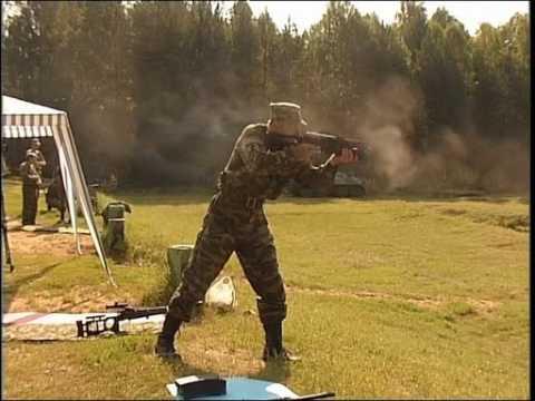 Bizon - 9mm submachine gun with large capacity magazine