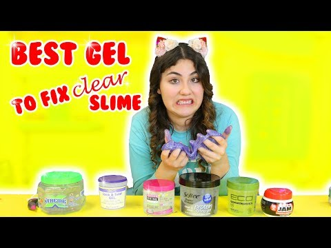 BEST HAIR GEL TO FIX CLEAR SLIME | how to fix hard clear slime | Slimeatory #190 (видео)