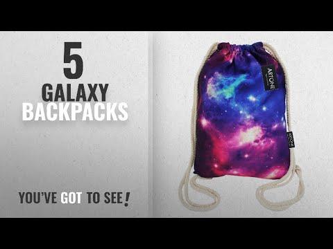 Top 10 Galaxy Backpacks [2018 Best Sellers]: Artone Galaxy Canvas Drawstring Bag Travel Daypack