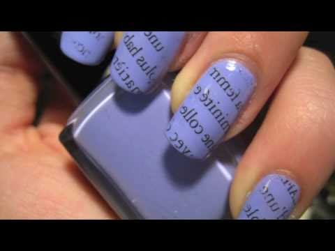nail art tutorial - carta di giornale