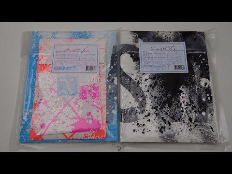 Unboxing Monsta X 몬스타엑스 1st Studio Album Repackage Shine Forever (Both A & B Edition) (видео)