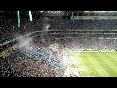 #1 Final GRE x CAM - Entrada em campo geral da com bobinas - Grêmio Atlético Copa do Brasil - Geral do Grêmio - Grêmio